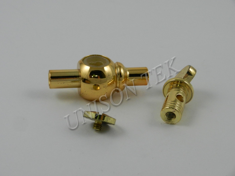 Gold-Plated Coffee Machine Part CNC ISO Certified machine shop in Taiwan OEM ODM customize