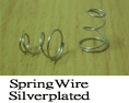 Spring Wire Silver plated